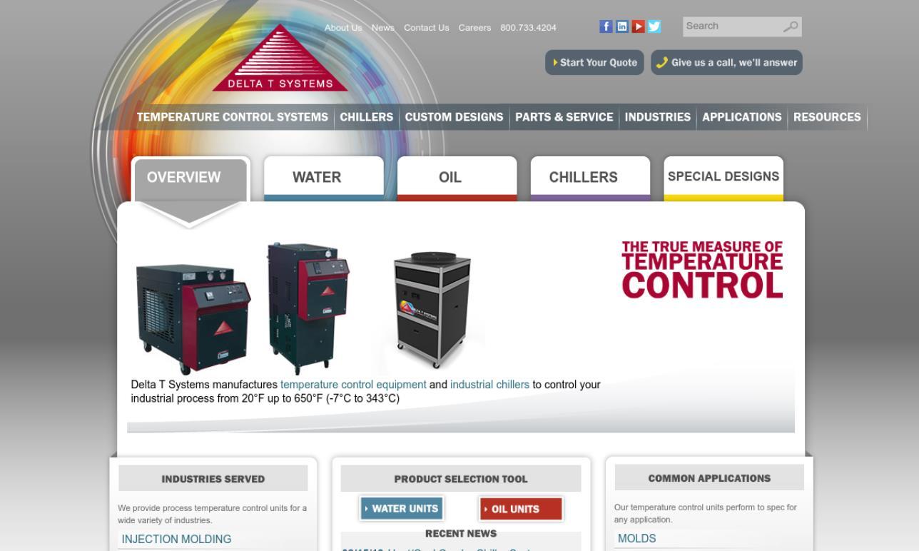 Delta T Systems, Inc  | Liquid Chillers